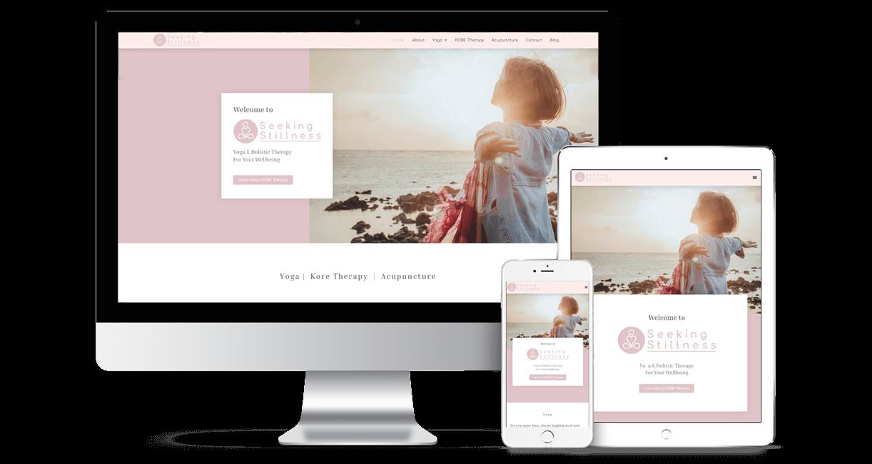 SeekingStillness Responsive view. Ockoe web design